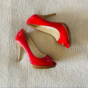 "Holiday Red 5"" Heels Size 9.5 Mossimo"